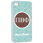 Pi Beta Phi Sorority iPhone 4/4s Case - Apple iPhone 4/4s Seamless Case (White)