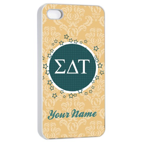 Sigma Delta Tau Sorority Iphone 4/4s Case By Klh   Apple Iphone 4/4s Seamless Case (white)   6ioyf5hz3xbt   Www Artscow Com Front