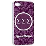 Sigma Sigma Sigma Sorority iPhone 4/4s Case - Apple iPhone 4/4s Seamless Case (White)