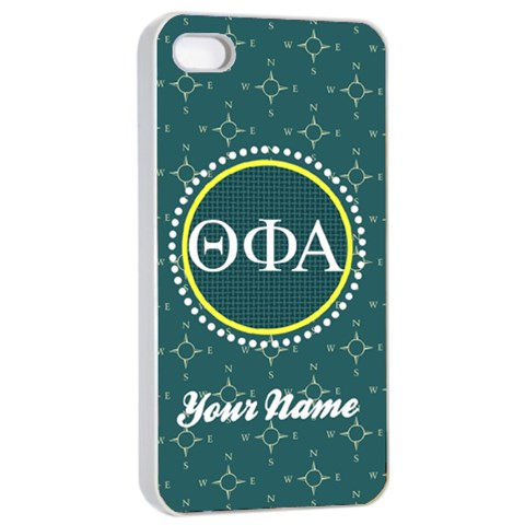 Theta Phi Alpha Sorority Iphone 4/4s Case By Klh   Apple Iphone 4/4s Seamless Case (white)   7bg7qdxj6a6g   Www Artscow Com Front