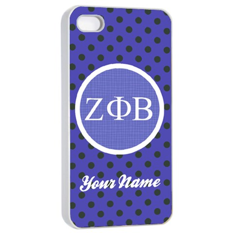 Zeta Phi Beta Sorority Iphone 4/4s Case By Klh   Apple Iphone 4/4s Seamless Case (white)   Ppzjixo12eix   Www Artscow Com Front