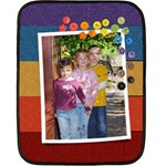 Rainbow Glitter- mini fleece blanket (2 sides) - Double Sided Fleece Blanket (Mini)