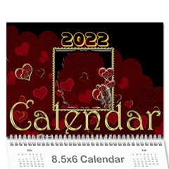 2015 February Start Red Love Heart Calendar By Claire Mcallen   Wall Calendar 8 5  X 6    Sz1qtfulieuk   Www Artscow Com Cover