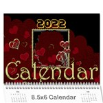 2015 February Start Red Love Heart Calendar - Wall Calendar 8.5  x 6