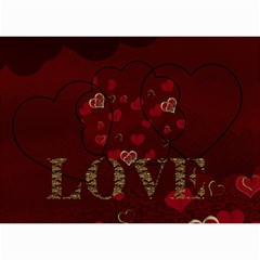 2013 February Start Red Love Heart Calendar by claire mcallen Month