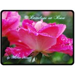 Raindrops on Roses blanket - Fleece Blanket (Large)