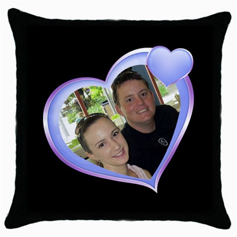 My Love Throw Pillow By Deborah   Throw Pillow Case (black)   W73zt9z1vcpa   Www Artscow Com Front