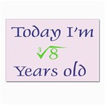 Today I m 2 Postcard 4 x 6  (Pkg of 10)