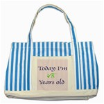 Today I m 2 Striped Blue Tote Bag