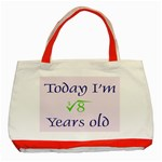 Today I m 2 Classic Tote Bag (Red)
