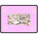 Puppy Blanket Pink - Fleece Blanket (Extra Large)