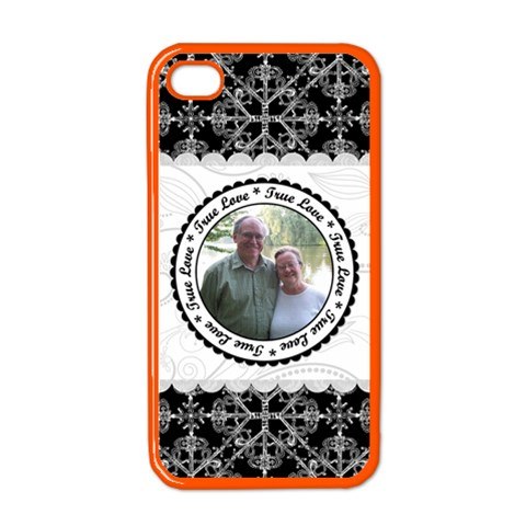 True Love Black, White, & Pink Apple Iphone Case (color) By Klh   Apple Iphone 4 Case (color)   Egofesnb6vow   Www Artscow Com Front