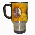 Sunflower Travel Mug - Travel Mug (White)