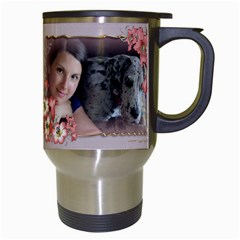All Framed Travel Mug By Deborah   Travel Mug (white)   Qk5vvj9h5p4c   Www Artscow Com Right