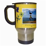 Travel Mug: Pinwheels - Travel Mug (White)