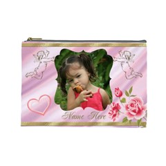 My Angel Large Cosmetic Bag By Deborah   Cosmetic Bag (large)   Uwctddhbr8ux   Www Artscow Com Front