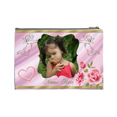 My Angel Large Cosmetic Bag By Deborah   Cosmetic Bag (large)   Uwctddhbr8ux   Www Artscow Com Back