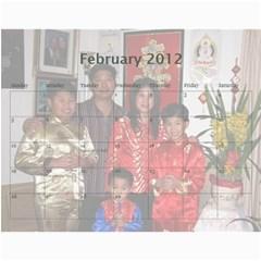 2012 By Phungm   Wall Calendar 11  X 8 5  (18 Months)   5jxjw4kkikuz   Www Artscow Com Feb 2012