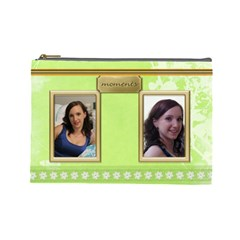 Moments Large Cosmetic Bag By Deborah   Cosmetic Bag (large)   Ho4ik6wygca6   Www Artscow Com Front