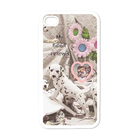 My Best Friend By Birkie   Apple Iphone 4 Case (white)   F23oycf9a81c   Www Artscow Com Front
