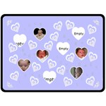 Blue Baby Love Blanket - Fleece Blanket (Large)