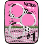 Soccer/football-pink GIRLS- mini fleece blanket