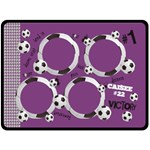 Soccer/football-PURPLE GIRLS- fleece blanket (extra large)