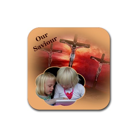 Our Saviour 2 Coaster By Deborah   Rubber Coaster (square)   G4sk6xrxff1l   Www Artscow Com Front