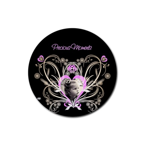 Precious Moments Round Coaster By Birkie   Rubber Coaster (round)   Wr20np2cj870   Www Artscow Com Front
