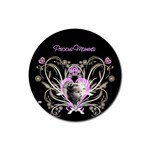 Precious moments round coaster - Rubber Coaster (Round)