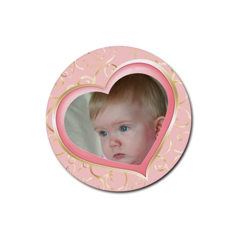 Our Heart Round Coaster By Deborah   Rubber Coaster (round)   Xq4emzj4t931   Www Artscow Com Front