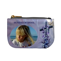 Sunday School Mini Coin Purse By Deborah   Mini Coin Purse   Gz4cw33vzfkc   Www Artscow Com Front