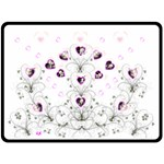 Bouquet of Hearts XL Blanket - Fleece Blanket (Large)