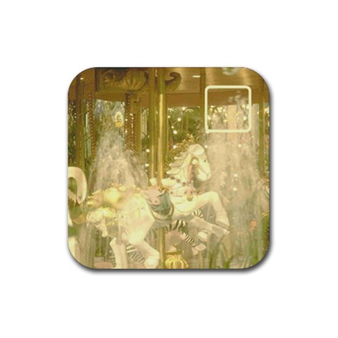 Carousel Coaster By Birkie   Rubber Coaster (square)   Fif04621vqyw   Www Artscow Com Front