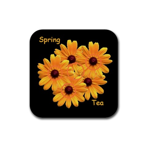 Spring Tea Coaster By Birkie   Rubber Coaster (square)   Q4ijah5fe3fn   Www Artscow Com Front