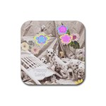 Puppy Love Coaster - Rubber Coaster (Square)