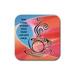 Coffee Coaster 2 - Rubber Coaster (Square)
