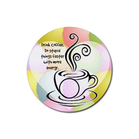 Coffee Coaster 6 By Birkie   Rubber Coaster (round)   7rd37setvnfi   Www Artscow Com Front