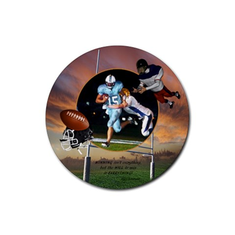 Football   Rubber Coaster (round)1 By Snackpackgu   Rubber Coaster (round)   3kwn404hb8y4   Www Artscow Com Front