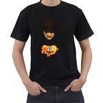 Official RTI  Black Mens T-Shirt (Two Sides)