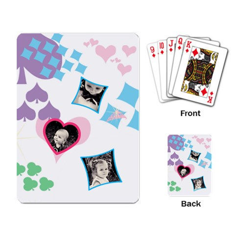 Hearts Single Design Cards By Birkie   Playing Cards Single Design   Lrnvz3hv8a8a   Www Artscow Com Back