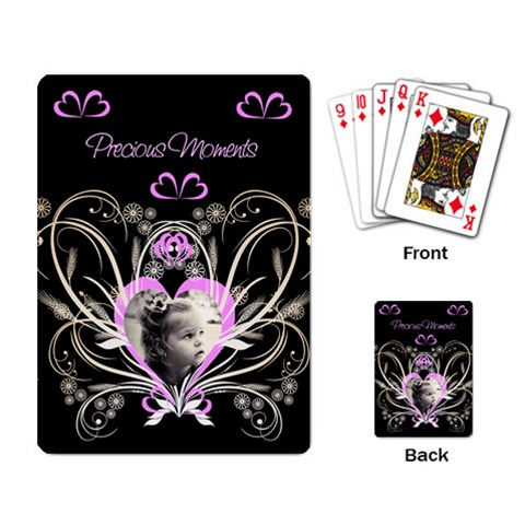 Precious Moments Playing Cards By Birkie   Playing Cards Single Design   Zv1s9r17wa5l   Www Artscow Com Back