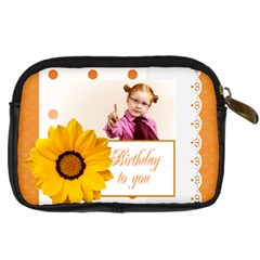 Happy Birthday By Joely   Digital Camera Leather Case   Hohfm2oh95j6   Www Artscow Com Back