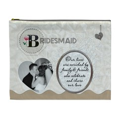 Bridesmaid Xl Costmetic Bag By Lil    Cosmetic Bag (xl)   G3isdx0eaalh   Www Artscow Com Front