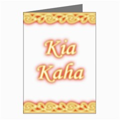 Kia Kaha with Ngaru Greeting Card by MaoriCreations1