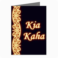 Kia Kaha with Mangotipi Greeting Card by MaoriCreations1