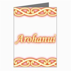 Arohanui with Patiki Greeting Card by MaoriCreations1