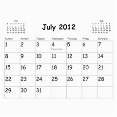 Out With The Old, In With The New   Calendar By Terrydeh   Wall Calendar 11  X 8 5  (18 Months)   1k8lpbb702on   Www Artscow Com Jul 2012