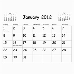 Out With The Old, In With The New   Calendar By Terrydeh   Wall Calendar 11  X 8 5  (18 Months)   1k8lpbb702on   Www Artscow Com Jan 2012