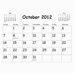Out With The Old, In With The New   Calendar By Terrydeh   Wall Calendar 11  X 8 5  (18 Months)   1k8lpbb702on   Www Artscow Com Oct 2012